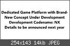 """Nintendo's neue Homeconsole hört auf den Codename """"NX"""""""