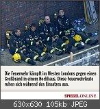 Hochhaus in London brennt!