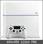 Playstation 4 in Glacier White und mit Destiny Bundle.