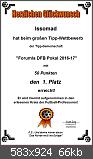 DFB Pokal Tippspiel 2016/2017 - Die Auswertung