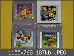 [V]: Gameboy Color+ 5 Spiele (alle Simpsons-Games)